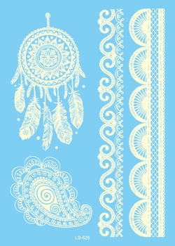 Ornament 3 - Henna White - Large