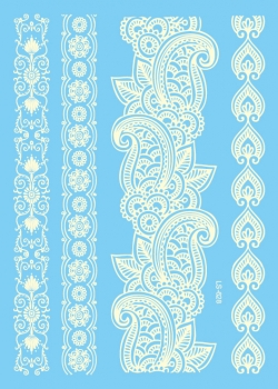 Ornament 2 - Henna White - Large