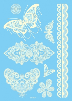 Ornament 1 - Henna White - Large