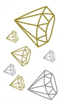 Diamonds - Gold & Silver - Small